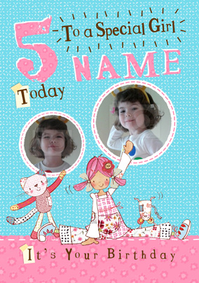 Emily Button - Special Girl 5 Today Photo Card