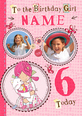 Emily Button - 6 Today Photo Card