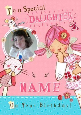Emily Button - Special Daughter Photo Card