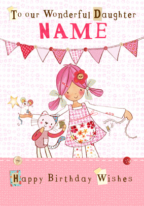 Emily Button - Wonderful Granddaughter Personalised Card