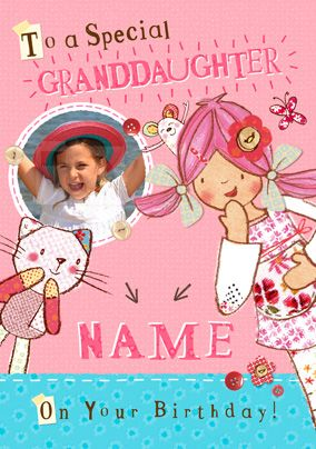 Emily Button - Special Granddaughter Photo Card