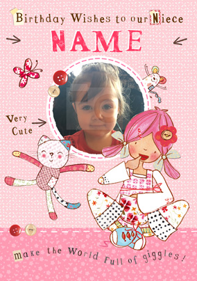 emily button birthday wishes niece photo card