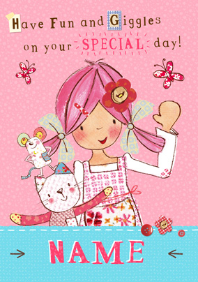 Emily Button - Special Day Personalised Card