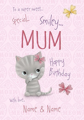 Little Meow - Special Mum Personalised Birthday Card