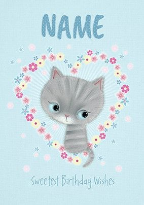 Little Meow - Sweetest Birthday Wishes Personalised Card