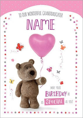 More Like This Barley Bear Granddaughter Birthday Card