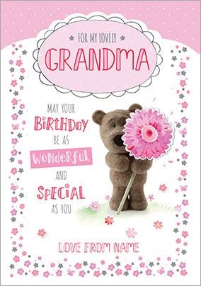 Barley Bear Grandma Birthday Card
