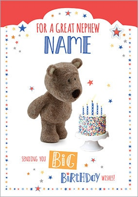 Barley Bear Nephew Birthday Card