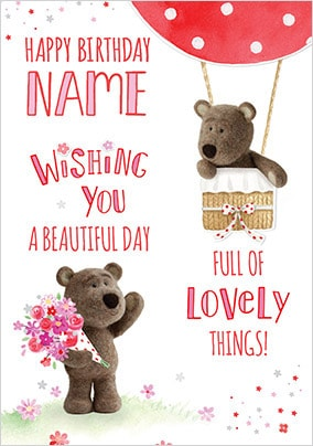 Barley Bear Beautiful Day Personalised Card