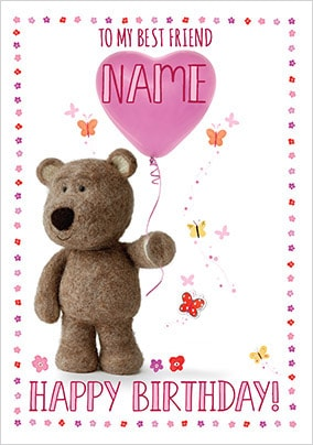 Barley Bear Best Friend Birthday Card