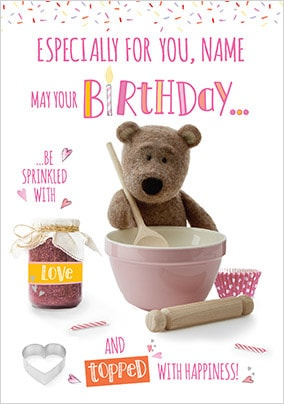 Barley Bear Especially For You Personalised Card