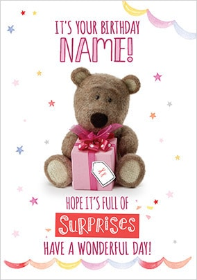 Barley Bear Birthday Surprise Card