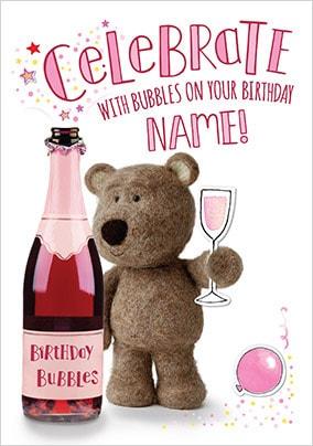 Barley Bear Celebrate Personalised Card