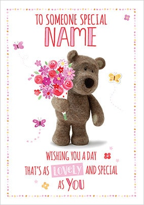 Barley Bear Someone Special Personalised Card
