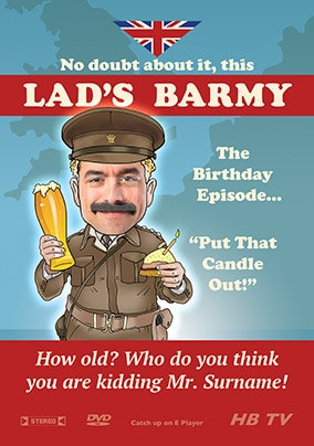 Lad's Barmy Spoof Photo Card