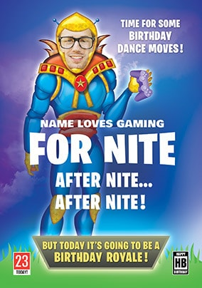 For Nite After Nite Spoof Photo Birthday Card