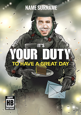 Its Your Duty Gaming Birthday Card