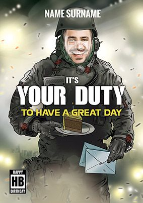 It's Your Duty Gaming Birthday Card
