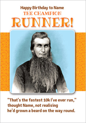 Champion Runner Birthday Card