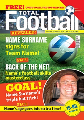 Hot Mags - Birthday Card Total Football