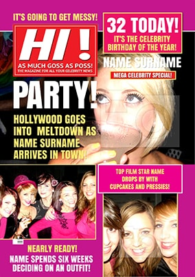 Hot Mags - Birthday Card Time To Party!