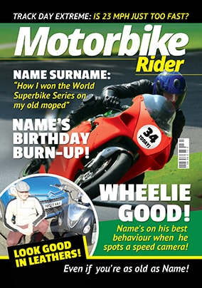 Hot Mags - Birthday Card Motorbike Rider