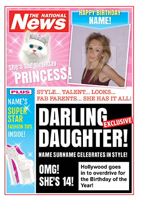 Darling Daughter Photo Upload National News Birthday Card