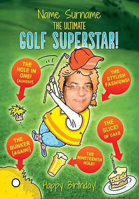 Birthday Card The Ultimate Golf Superstar NO Preview Image Is Not Found