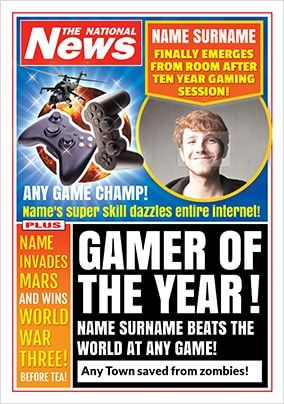 Gamer Of The Year Photo Upload National News Birthday Card