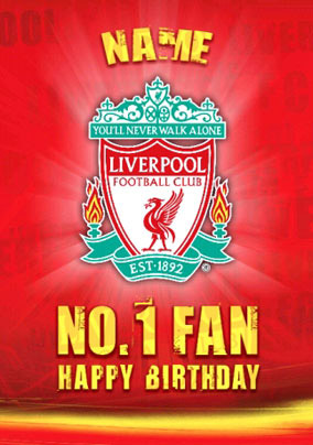 Liverpool FC Club Crest Birthday Card