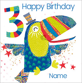 Boys Personalised Toucan Birthday Card