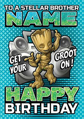 Baby Groot Brother Birthday Card