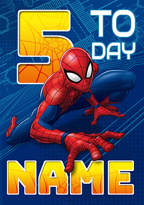More Like This Spider Man Age 5 Birthday Card