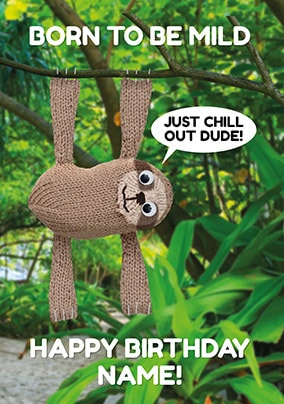 Born To Be Mild Personalised Birthday Card