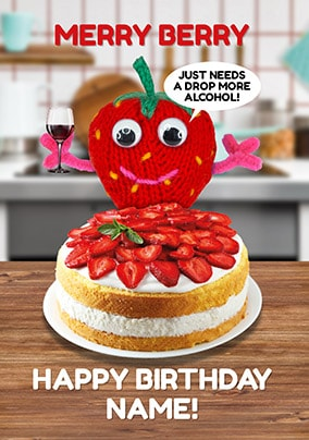 Merry Berry Personalised Birthday Card