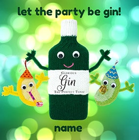 Let The Party Be Gin Personalised Card