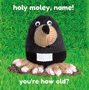 Holey Moley Personalised Birthday Card