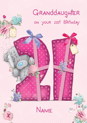 Me To You - Birthday Granddaughter 21 Card