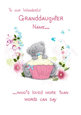 Birthday Granddaughter Words Card NO Preview Image Is Not Found