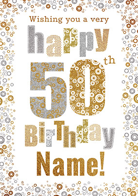50th Birthday Card Bubbles