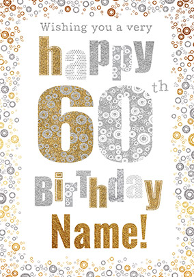 60th Birthday Card Bubbles