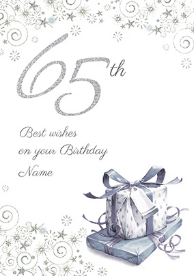 65th Birthday Card Presents