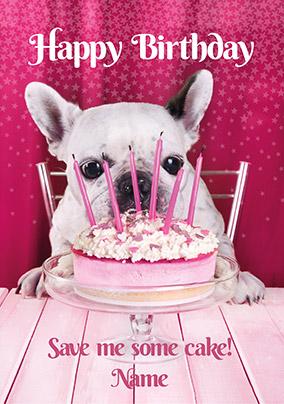 Dog Birthday Cake Card