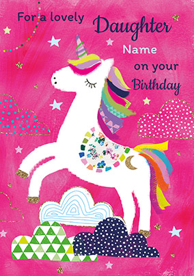 Unicorn Lovely Daughter Birthday Card NO Preview Image Is Not Found