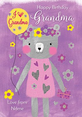 Grandma Bear Birthday Card