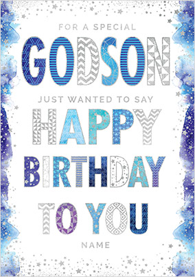 Send godson birthday cards funky pigeon special godson birthday card no preview image is not found m4hsunfo