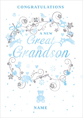 A New Great Grandson Card