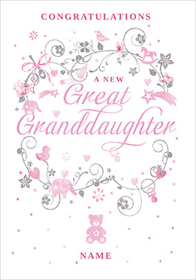 A New Great Granddaughter Card