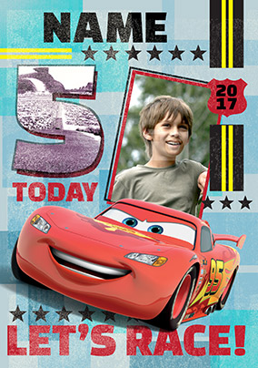 Disney Cars - Birthday Card Age 5