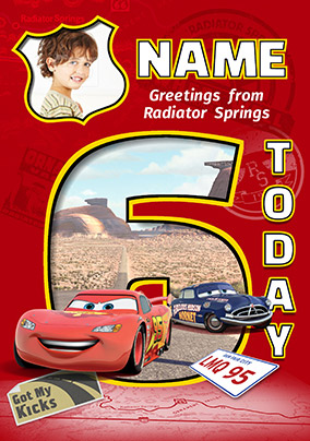 Disney Cars - Birthday Card Age 6